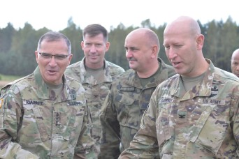 Gen. Scaparrotti visits U.S. Soldiers in Poland