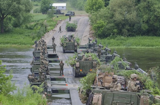 U.S. Army-led NATO Battle Group on deterrence mission in Poland
