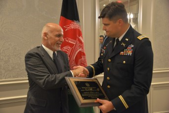 Afghan President honors Oklahoma Army National Guard Soldier in New York