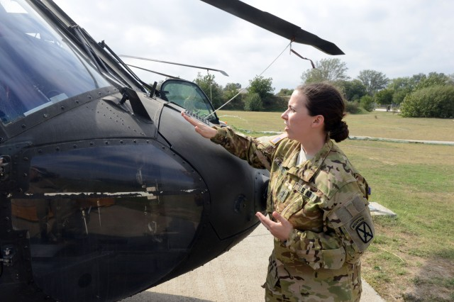 1st Lt. Alexis Lenavitt, a Black Hawk helicopter pilot with 2nd Battalion, 10th Combat Aviation Brigade, operating out of Camp Mihail Kogalniceanu, Romania, discusses current operations.