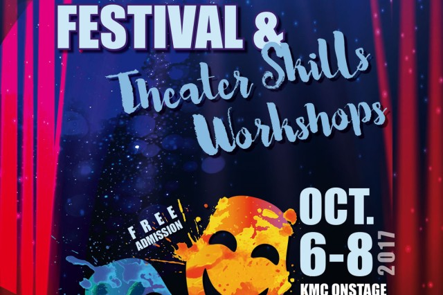 IMCOM-Europe Entertainment will present the U.S. Army One Page Play Festival and Theatre Skills Workshops, Oct. 6, at KMC Onstage on Kleber Kaserne, Building 3232, in Kaiserslautern.