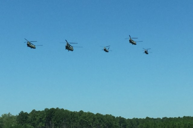 The first pic (CH 47F) is five CH-47F Chinook's flying away to their Safe Haven location.