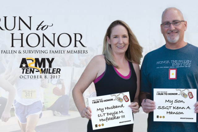 U.S. Army Installation Management Command's G9 Family and Morale, Welfare and Recreation Program's Survivor Outreach Services campaign to Run To Honor at the Army Ten Miler.