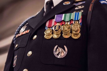 The Army's newest badge awarded to Old Guard Soldiers