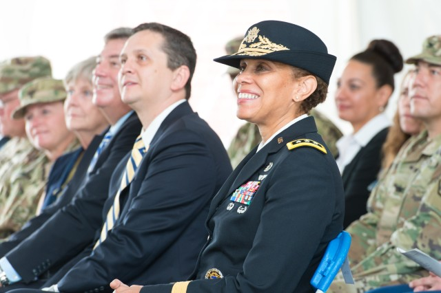 Lt. Gen. Nadja West, the surgeon general of the United States Army and commanding general of the U.S. Army Medical Command, was one of many distinguished guests to attend the Army Public Health Center's 75th Anniversary Celebration Sept. 26. West served as the keynote speaker for the celebration.