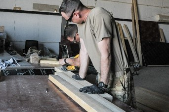 Army aviation sustainers and maintainers improve air base in Iraq