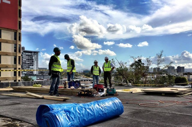 Corps Of Engineers Installs First Blue Roof In Puerto Rico