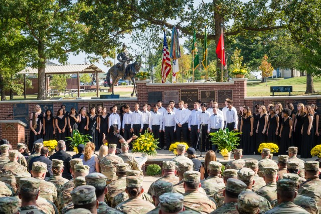 Waynesville High School Choir performs during the memorial tribute held Sept. 25 at MP Memorial Grove.