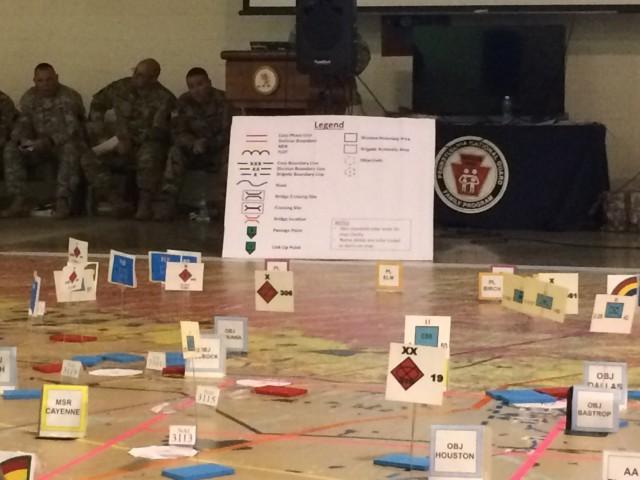 Computer wargame challenges 42nd Infantry Division leaders, battle staff at Fort Indiantown Gap