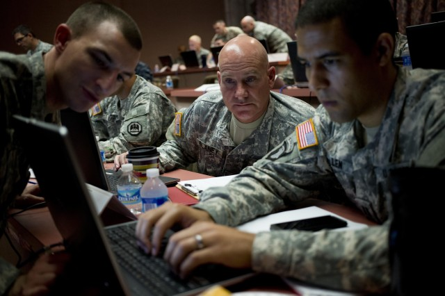 U.S. Cyber Command with the Army, along with other military services, are putting together active duty cyber teams.