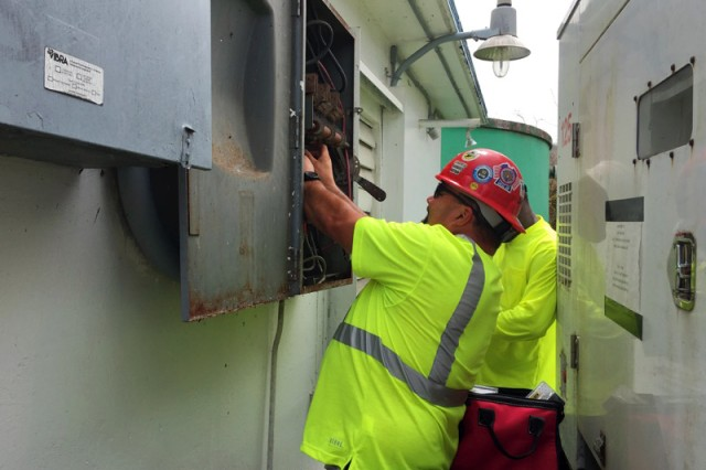 """As FEMA's engineers, the Corps was tasked in restoring temporary power through its Emergency Power Planning and Response Teams.  These Corps teams provide the capabilities to deploy and provide support to states during disasters that range from technical expertise to """"turn key"""" installation of emergency generators at critical public facilities."""