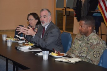 Garrison LN employees meet for working lunch with IMCOM-Europe director