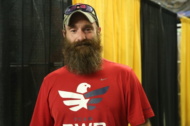 """Staff Sgt. Jeremy Funk, retired from 28th Infantry Division, U.S. Army/National Guard, planning his """"Run To Honor"""" for Spc. Chad Edmundson. Funk is one of over 750 registered participants in the Army Ten-Miler scheduled for Oct. 8, 2017. The """"Run To Honor"""" campaign is the work of Survivor Outreach Services, part of G9 Family and MWR Programs, who directly benefit from the proceeds of the race produced by the U.S. Military District of Washington."""