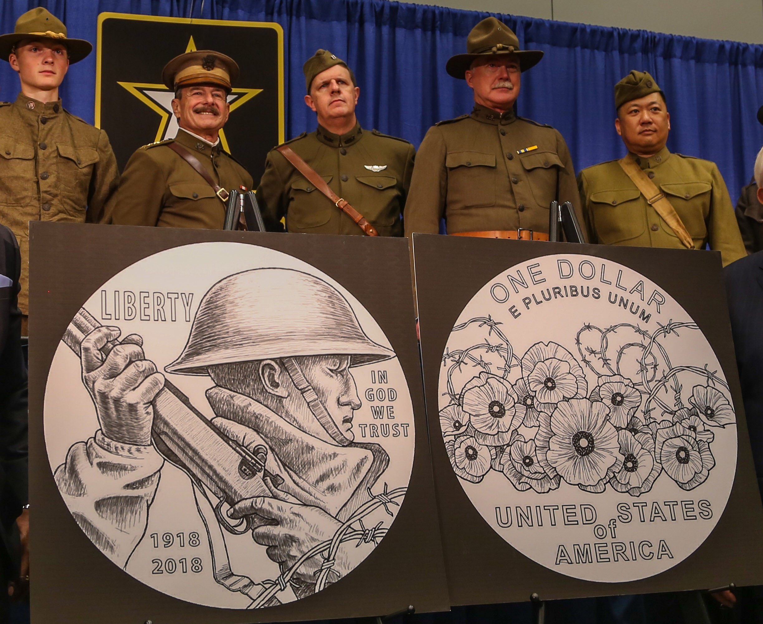 Army Helps Unveil Wwi Commemorative Coin Article The