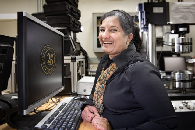Dr. Latha Nataraj, an engineering materials researcher with the U.S. Army Research Laboratory's Vehicle Technology Directorate, is also an accomplished artist and musician who donated her works in support of hurricane relief.