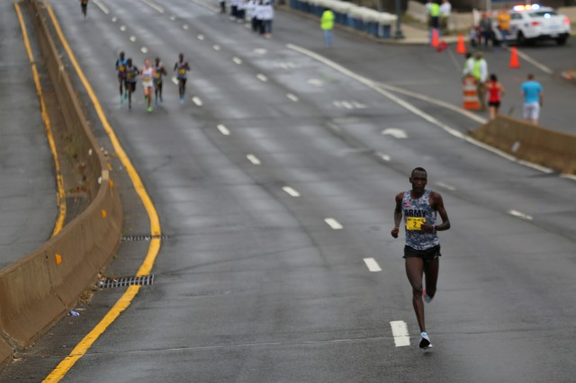 Spc. Haron Lagat keeping sub-five-minute mile pace