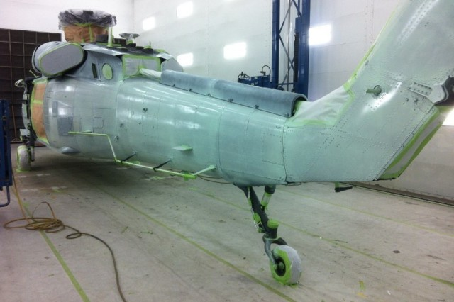 Class N Primer applied to UH-60 at 1107th TASM-G, at Springfield, Missouri(Courtesy Photo)
