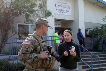 Army National Guard members make a difference at California fire evacuation center