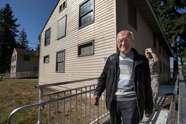 Former POW tours his old barracks