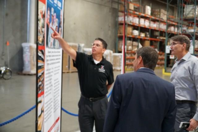 Paul Cramer visits Exchange distribution center