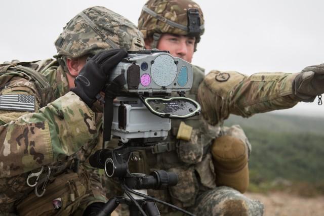 Rugged Alaska terrain sees Field Artillery Soldiers test new laser targeting system