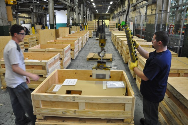 The Watervliet Arsenal ran an armor kit production line from 2004 to 2010.  This Arsenal crew is finishing up the last sets of armor kits to leave the Arsenal in 2010, thus ending a $100 million product line that saved countless lives and immeasurable suffering.