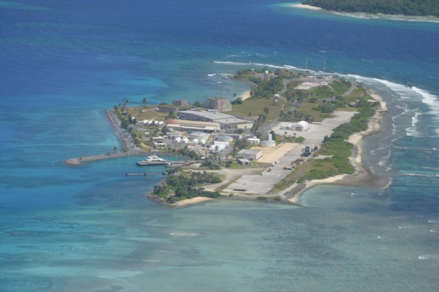 Meck Island seen from above where the PAC-3 Missile Segment Enhancement (MSE) interceptor was fired during an operational test.