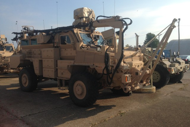 The Medium Mine Protected Vehicle (MMPV) Type II vehicle being used to conduct route clearance testing Wednesday.