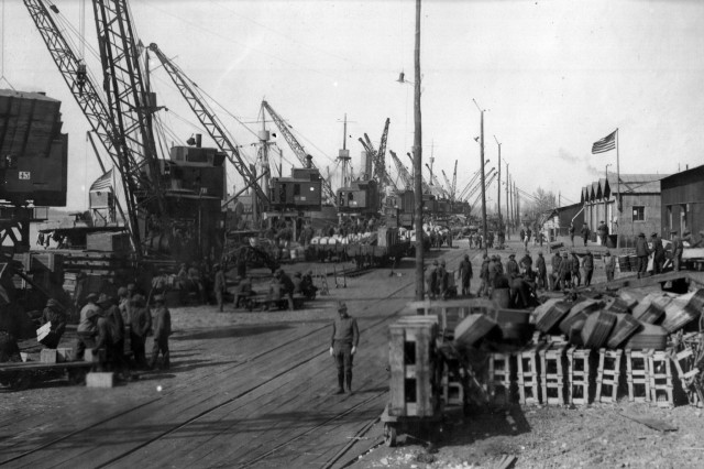 The Army constructed new port facilities along the Southeastern coast of France near the existing ports of Bassens and Bordeaux. This became known as American Bassens. Once operational, it became one of two principal ports for the American Expeditionary Forces.