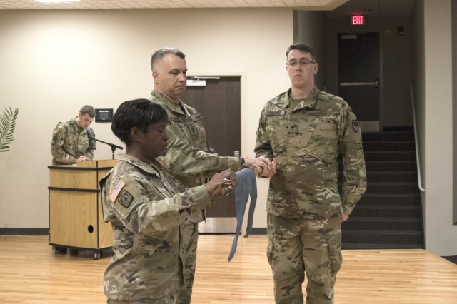The South Carolina National Guard's 125th Cyber Protection Battalion held its Activation and Assumption of Command Ceremony, Oct. 21, 2017, at McEntire Joint National Guard Base. Lt. Col. Linda Riedel (left), assumed command of the battalion during the ceremony as the 125th flag was unfurled. The Battalion is activating to respond to the numerous threats to national security and infrastructure from hacking of electronics systems from those wishing to do harm to the U.S.