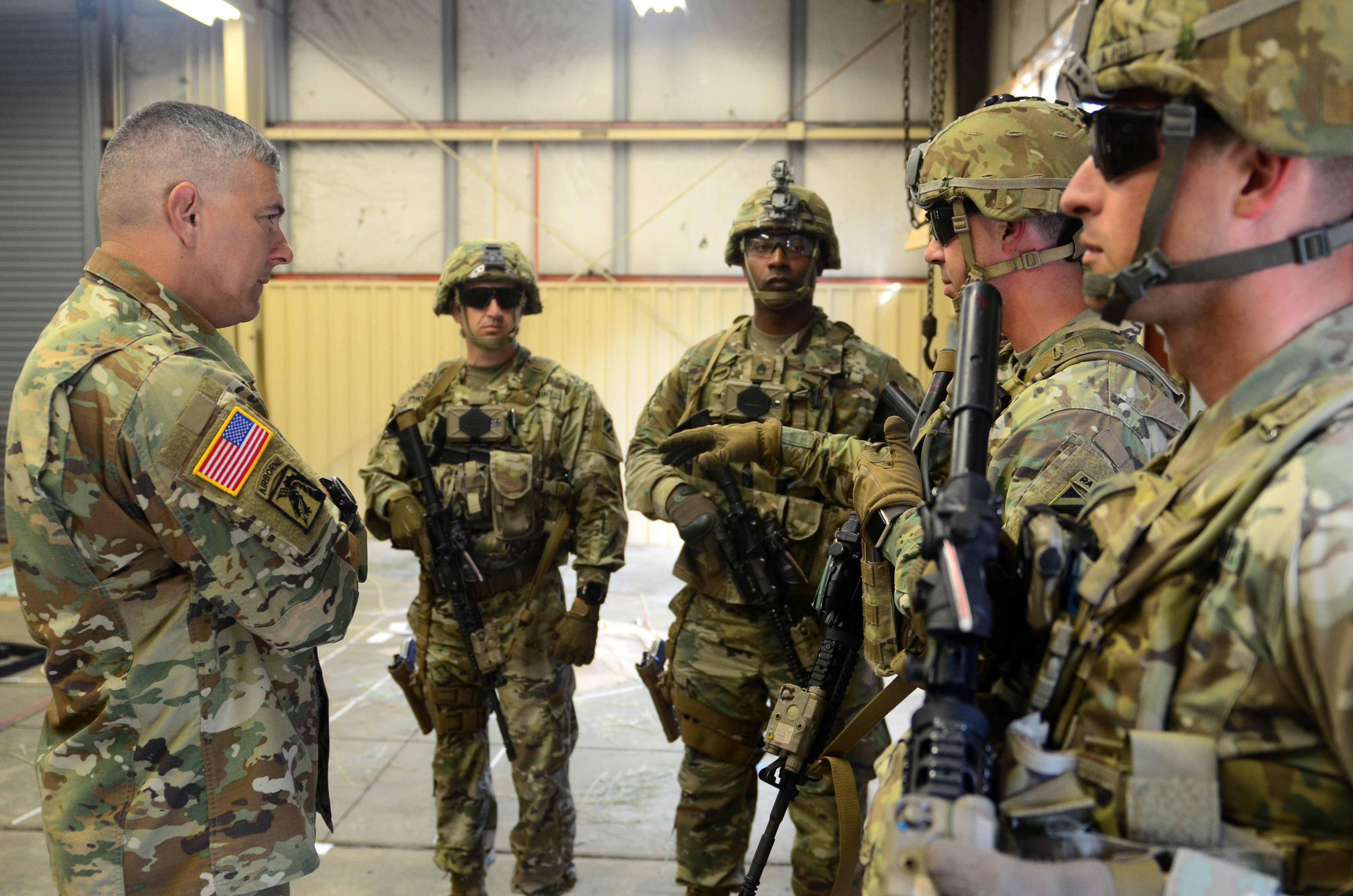 Best Military Branch To Join >> XVIII ABN Commander visits Army's first SFAB | Article ...