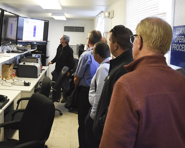 German VIPs tour Dugway; chem/bio defense testing viewed