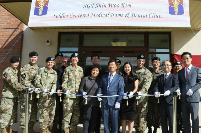 Sgt. Shin W. Kim Soldier Centered Medical Home & Dental Clinic ribbon cutting ceremony