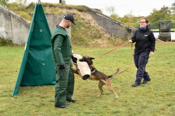USAG RP lends support to polizei working dog certification