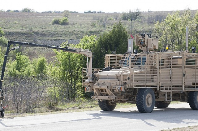 A new Multi-Functional Video Display for the Medium Mine Protected Vehicle Type II is currently being tested by Soldiers from the 509th Engineer Company at Fort Leonard Wood.