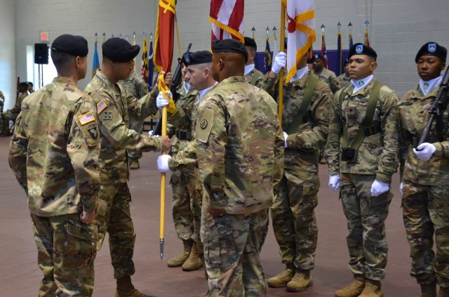 Command Sgt. Maj. Brian M. O'Leary officially named 597th Trans. Bde. Command Sergeant Major