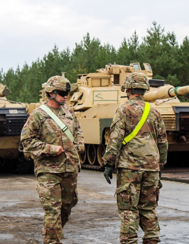 Sustainment community flexes muscle during armor rotation