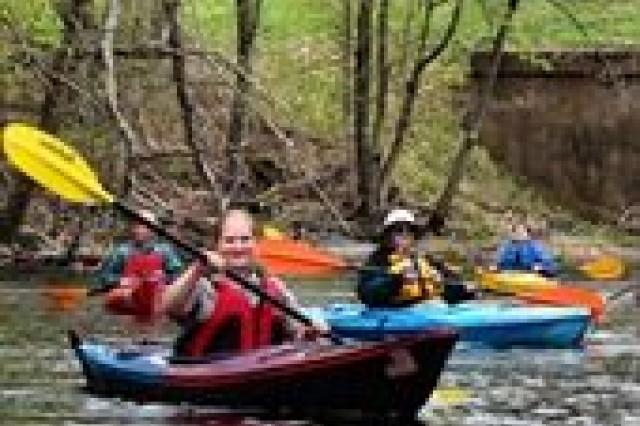Kayakers on Corps Lake