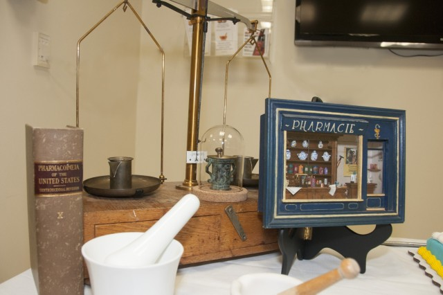 Vintage pharmaceutical instruments are displayed during William Beaumont Army Medical Center's National Pharmacy Week celebration, Oct. 18.