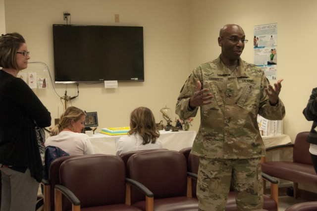 Col. Stacey Causey, chief, Department of Pharmacy, William Beaumont Army Medical Center, discusses the impact pharmacists have on patient experiences and their medication therapy during WBAMC's National Pharmacy Week celebration, Oct. 18.