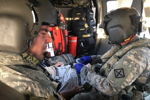 Soldiers from Det. 1, Charlie Co of 2nd Battalion, 238th Medevac, out of Frankfort, Kentucky, deployed to the Virgin Islands during the month of September to provide search-and-rescue and lifesaving missions after the wake of Hurricanes Irma and Maria blew through the region.