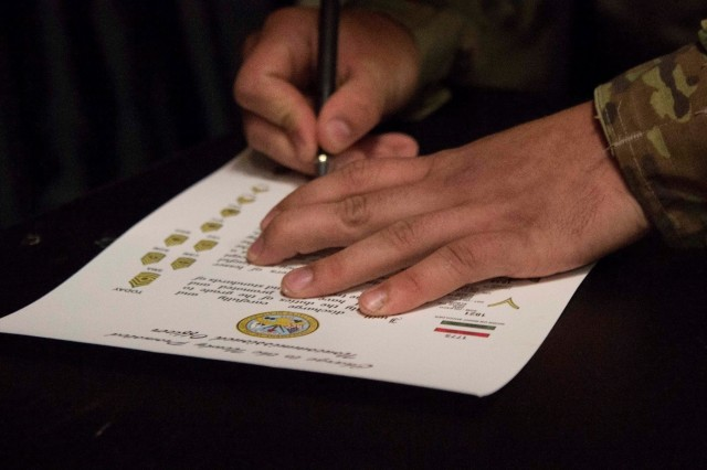1st SFAB promotes first Soldiers to sergeant under new policy