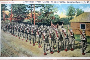 New York National Guardsmen prepared for World War One service at South Carolina Camp
