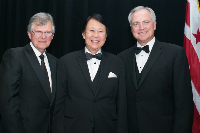 The National Academy of Construction (NAC) has elected Gene Ban, director of programs, USACE, Pacific Ocean Division, as a member of its 2017 class. He was inducted October 26 at the NAC Annual Meeting, which was held at the Fairmont Georgetown. Eugene Ban (center) pictured with National Academy of Construction president Hugh Rice (left) and vice-president Tom Sorley (right).
