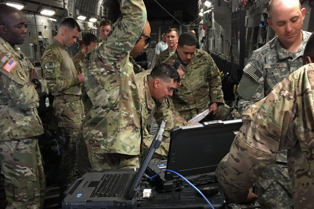 During a training mission in May 2017, the Army's Global Response Force successfully used the Enroute Mission Command system developed by PM Tactical Network to enable real-time joint intelligence, communications and collaboration capabilities on a flight from Fort Bragg, North Carolina, to New Mexico. While the program office's name is new, its mission is not: to provide warfighters unified satellite and radio network capabilities to enable uninterrupted mission command and secure communications across the joint operational spectrum.