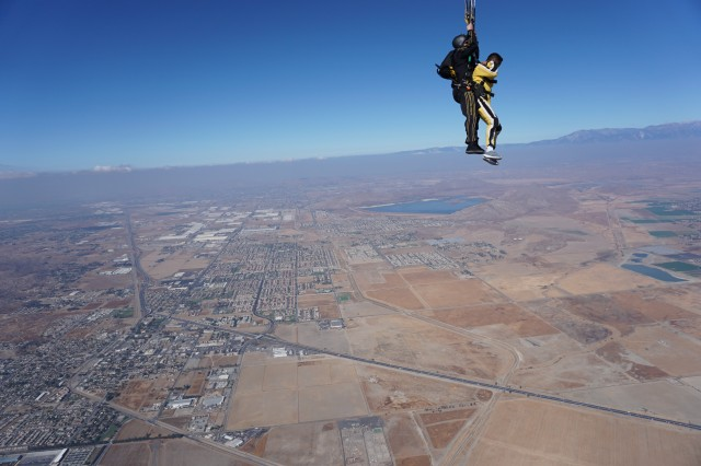 Tandem jumping with the Golden Knights in Perris, Calif.