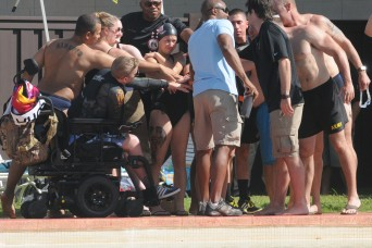 U.S. Army Pacific wounded warriors bring on the motivation during Pacific Regional Trials week