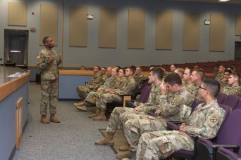 Security Force Assistance Brigade recruiters share opportunities with Fort Drum Soldiers