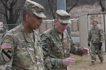 USFK Leadership, Ground Component Commander visit I Corps at Warfighter 18-2
