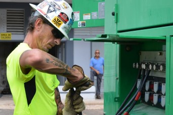 Remote Puerto Rico community hospital gets 500th FEMA generator installed by USACE